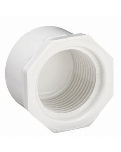 "1 1/4"" Schedule 40 PVC Cap, White, Threaded, 448-012"