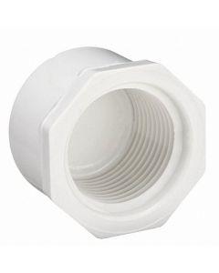 "1/2"" Schedule 40 PVC Cap, White, Threaded, 448-005"