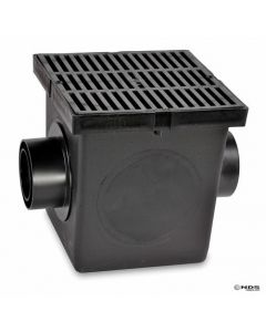 "NDS 1200BLKIT - 12"" Catch Basin Kit (Black Grate), Display"