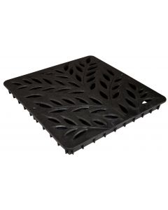"NDS 12"" Catch Basin Decorative Botanical Grate, Black"