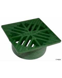 "NDS 1 - 4"" Square Grate, Green"