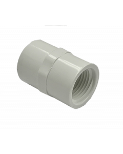 "1/2"" Schedule 40 PVC Female Adapter, White, 435-005"