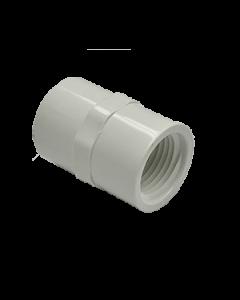 "1/2"" Schedule 40 PVC Female Adapter, White, 435-005"