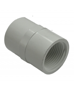 "3/4"" Schedule 40 PVC Female Adapter, White, 435-007"
