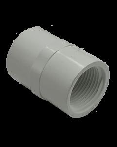 "3/4"" Schedule 40 PVC Female Adapter, White, 435-007"
