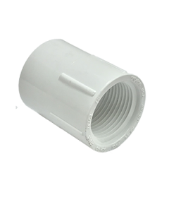 "1"" Schedule 40 PVC Female Adapter, White, 435-010"