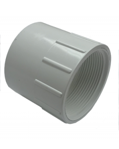 "2"" Schedule 40 PVC Female Adapter, White, 435-020"
