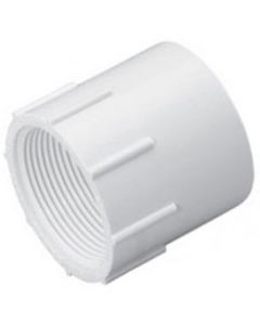 "1/2"" x 3/4"" Schedule 40 PVC Reducing Female Adapter, White, 435-074"