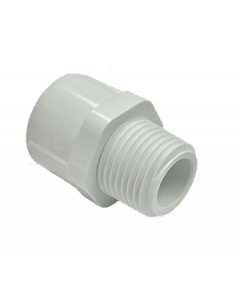 "1/2"" Schedule 40 PVC Male Adapter, White, 436-005"