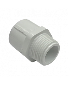 "3/4"" Schedule 40 PVC Male Adapter, White, 436-007"