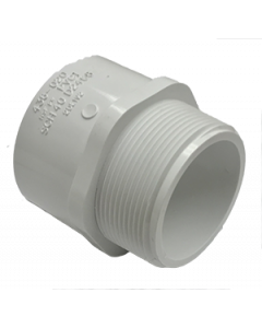 "2"" Schedule 40 PVC Male Adapter, White, 436-020"
