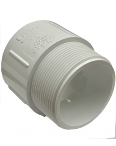 "3"" Schedule 40 PVC Male Adapter, White, 436-030"