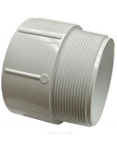 "4"" Schedule 40 PVC Male Adapter, White, 436-040"