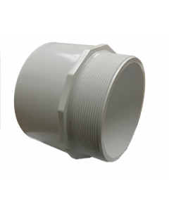 "6"" Schedule 40 PVC Male Adapter, White, 436-060"