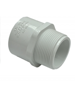 "1"" Schedule 40 PVC Male Adapter, White, 436-010"