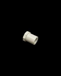 "3/8"" Schedule 40 PVC Plug, White, 449-003, Angle"