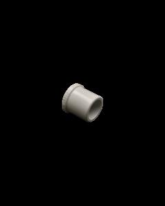 "1/2"" Schedule 40 PVC Plug, White, 449-005, Angle"