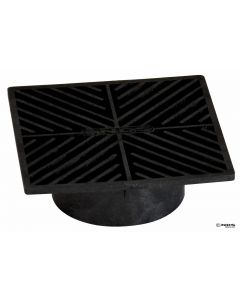 "NDS 4 - 6"" Square Grate, Black"