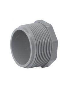 "4"" Schedule 80 PVC Plug, Gray, 850-040"