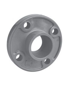 "2 1/2"" Schedule 80 PVC Flange (One-Piece), Gray, 851-025"