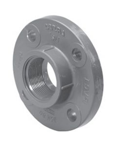 "1"" Schedule 80 PVC Flange (One-Piece) , Gray, 852-010"