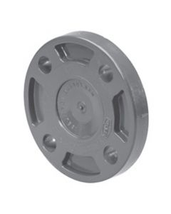 "3"" Schedule 80 PVC Flange (Blind), Gray, 853-030"