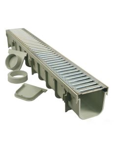 "NDS 864GMTL - 5"" Pro Series Channel Drain Kit with Metal Grate"