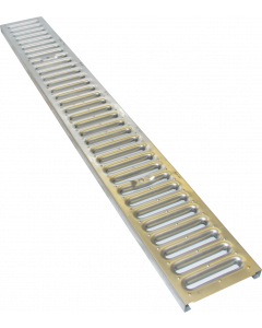Josam Lite Line Trench Drain Galvanized Steel Slotted Grate, Display