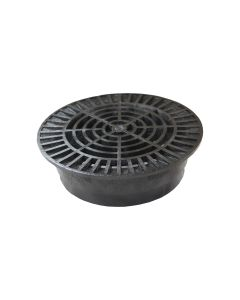 "NDS 1040 - 10"" Round Grate (Black)"