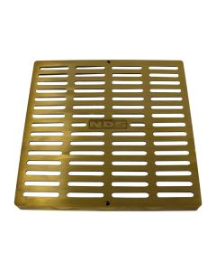 "NDS 12"" Square Catch Basin Grate - Brass"