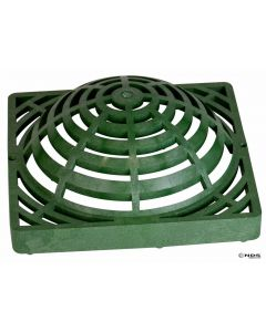 "NDS 1280 - 12"" Square Catch Basin Atrium Grate, Green"