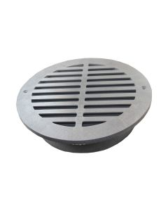 "NDS 1260 - 12"" Round Grate (Grey)"