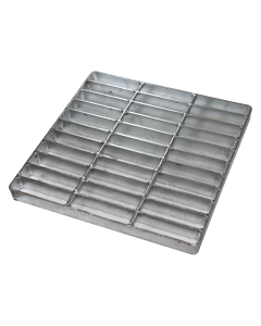 "NDS 1215 - 12"" Square Catch Basin Grate, Galvanized Steel"