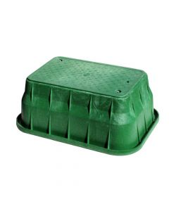 """NDS 13"""" x 24"""" x 12"""" Pro-Spec Series - Green Box / Green Bolt-down Cover, ICV, Display"""