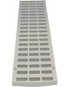 """NDS 5"""" Pro Series Channel Grate - Grey"""
