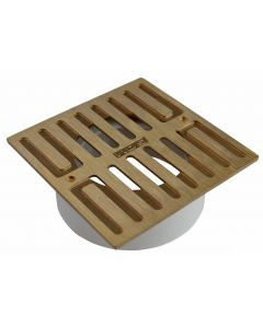 NDS 913B - Square Grate With PVC Collar