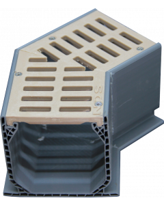NDS Mini Channel Fabricated 45-Degree Elbow With Grate - Sand