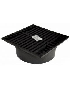 """NDS 7"""" Square Grate, Black"""