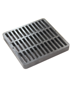 "NDS 980 -  9"" Square Catch Basin Grate, Black"