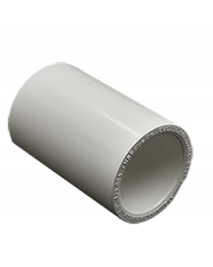 "1/2"" Schedule 40 PVC Coupling, White, 429-005"