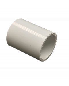 "1"" Schedule 40 PVC Coupling, White, 429-010"
