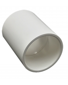 "1 1/2"" Schedule 40 PVC Coupling, White, 429-015"