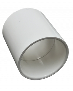 "2"" Schedule 40 PVC Coupling, White, 429-020"