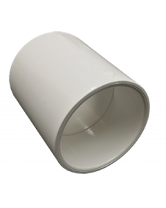 "2 1/2"" Schedule 40 PVC Coupling, White, 429-025"