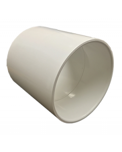 "6"" Schedule 40 PVC Coupling, White, 429-060"