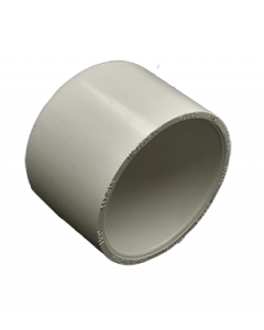 "1 1/2"" Schedule 40 PVC Cap, White, 447-015"