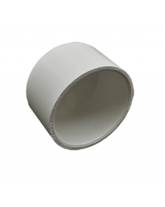 "2"" Schedule 40 PVC Cap, White, 447-020"