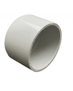 "2 1/2"" Schedule 40 PVC Cap, White, 447-025"