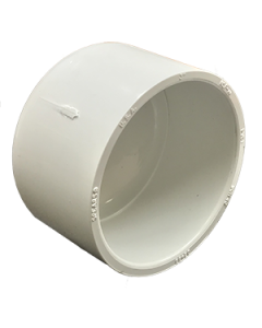 "3"" Schedule 40 PVC Cap, White, 447-030"