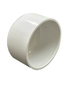 "4"" Schedule 40 PVC Cap, White, 447-040"